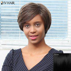 Siv Hair Short Oblique Bang Straight Pixie Human Hair Wig