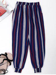 Contrast Striped Cropped Jogger Pants