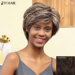 Siv Hair Short Curly Oblique Bang Human Hair Wig