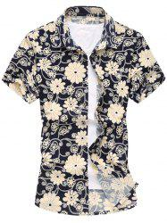Floral Short Sleeve Casual Shirt