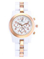 BRG STOCK Alloy Strap Rhinestone Number Watch