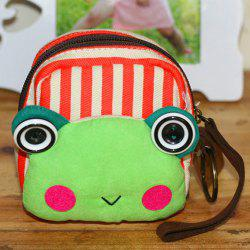 Cartoon Frog Canvas Coin Purse