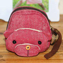 Canvas Cartoon Bear Coin Purse
