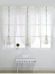 Roman Style Rose Embroidery Tull Curtain For Bedroom - WHITE