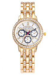 SOUSOU Alloy Strap Rhinestone Analog Watch