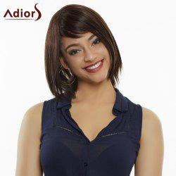 Elegant Medium Straight Capless Mixed Color Synthetic Wig For Women