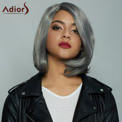 Fashion Women's Short Straight Mixed Color Side Parting Synthetic Hair Wig - COLORMIX