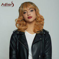 Attractive Medium Fluffy Curly Full Bang Gradient Women's Synthetic Hair Wig