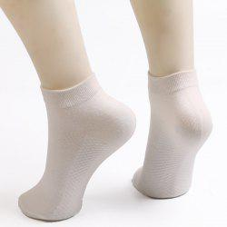Soothing Massage Bottom Design Plain Short Ankle Socks