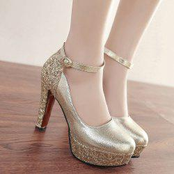 Platform Metallic Color Pumps