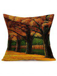 Autumn Landscape Painting Sofa Cotton Cloth Pillow Case