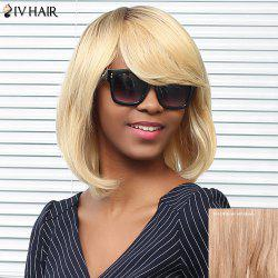Siv Hair Medium Straight Side Bang Bob Human Hair Wig