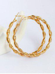 Alloy Braid Big Hoop Earrings