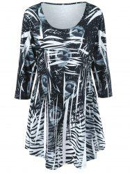 Plus Size Print Tunic Top