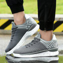 Mesh Geometric Pattern Athletic Shoes