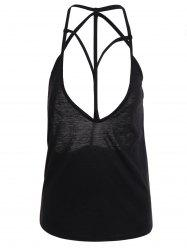 Strappy Backless Crop Top - BLACK M