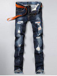 Zip Fly Skinny Jeans With Rips