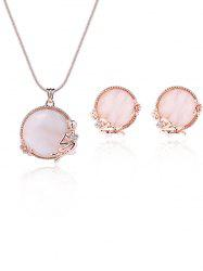 Faux Opal Gem Angel Rose Desgin Jewelry Set
