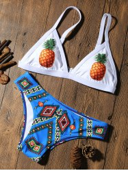 Pineapple Padded Cute Bathing Suit - COLORMIX M