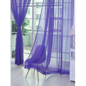 1 Pair of Sheer Window Tulle Fabric Curtains - Purple - 100*200cm (2pcs And Set)