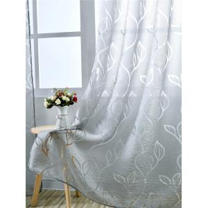 Fenêtre Shading Feuille Embroider Tulle rideau -