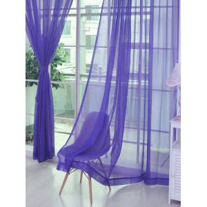Sheer Window Tulle Fabric Curtain For Living Room - Purple - 100*270cm