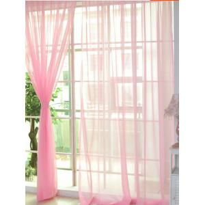 Pearl Light Pink 100 200cm Sheer Window Tulle Fabric Curtain For Living Room
