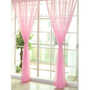Sheer Window Tulle Fabric Curtain For Living Room - Pearl Light Pink - 100*270cm