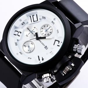 BRG STOCK Funny Silicone Strap Date Watch - WHITE