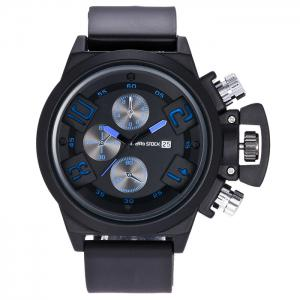 BRG STOCK Funny Silicone Strap Date Watch - Blue