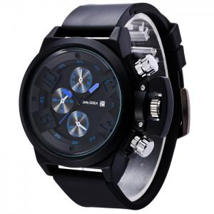 BRG STOCK Funny Silicone Strap Date Watch -