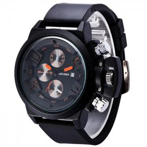 BRG STOCK Funny Silicone Strap Date Watch - ORANGE