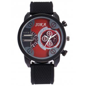 Silica Gel Strap Analog Wrist Watch