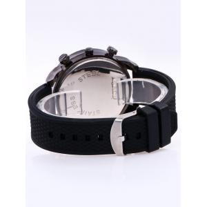 Silica Gel Strap Analog Wrist Watch - BLACK