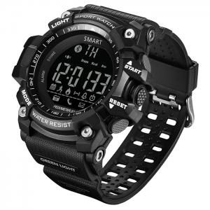 GIMTO Sport Podomètre remider Bluetooth montre Smart Watch - Noir