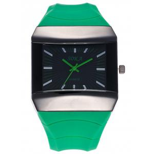 Silicone Strap Square Analog Watch