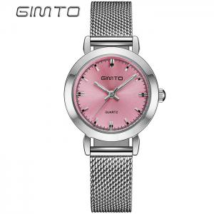 GIMTO Metallic Mesh Strap Analog Watch