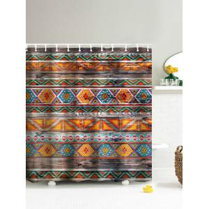 Eco-Friendly Dream Tribal Wooden Print Shower Curtain