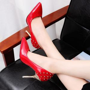 Stiletto Heel Rhinestones Pumps -