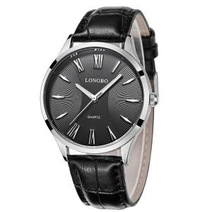 Roman Numerals Faux Leather Quartz Watch -