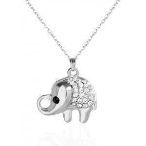 Rhinestone Elephant Pendant Necklace