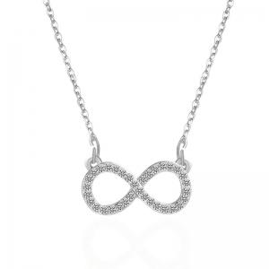 Rhinestoned Infinite Pendant Necklace