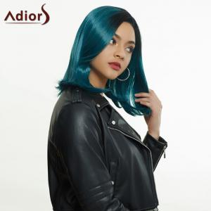Adiors Medium Side Parting Ombre Straight Synthetic Wig -