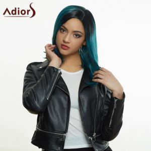 Adiors Medium Side Parting Ombre Straight Synthetic Wig - COLORMIX