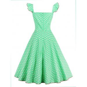Polka Dot Buttoned Pin Up Rockabilly Swing Dress -
