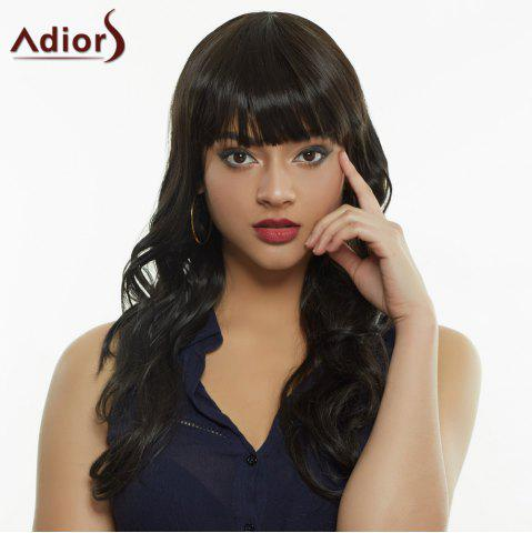 Store Stylish Full Bang Synthetic Curly Wig For Women BLACK