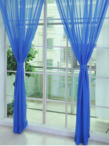 Sheer Window Tulle Fabric Curtain For Living Room - Deep Blue - 100*270cm