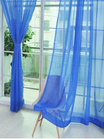 1 Pair of Sheer Window Tulle Fabric Curtains - Deep Blue - 100*200cm (2pcs And Set)