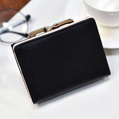 Buy Metal Trimmed Tri Fold Small Wallet - BLACK  Mobile