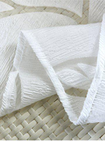 New Window Shading Leaf Embroider Tulle Curtain - 100*250CM CRYSTAL CREAM Mobile